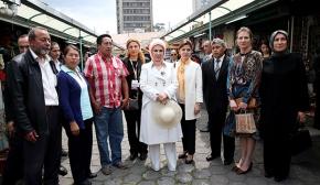 Emine Erdoğan, Ekvador'da Mindalae Müzesi'ni ziyaret etti